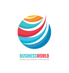 business world - logo template concept vector image