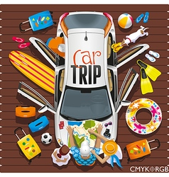 Car Trip vector image