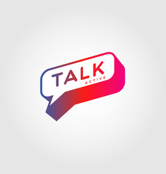 colorful gradient bubble talk logo sign symbol vector image