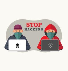 computer virus icons set antivirus scan warning vector image