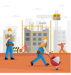 construction builder cartoon vector image