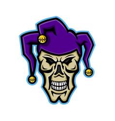 Court jester skull mascot vector