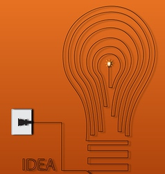 Creative light bulb idea abstract vector