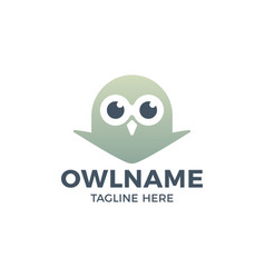 cute owl head logo template icon design vector image