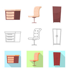 design of furniture and apartment sign vector image