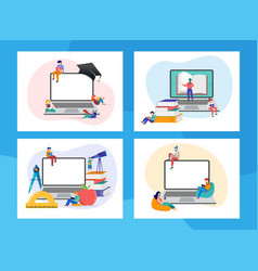 E-learning online education at home modern vector