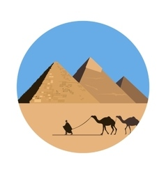Egypt pyramid icon vector