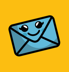 envelope comic character icon vector image