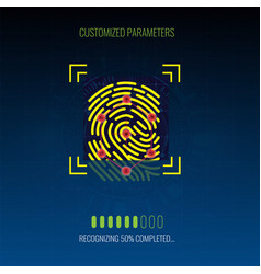 finger-print scanning identification and vector image