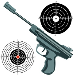 firearm the gun against the target vector image