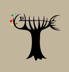 Fish and Tree vector