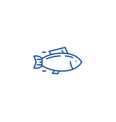 Fishtuna line icon concept fishtuna flat vector