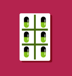 Flat icon design medical pills vector