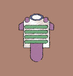 Flat shading style icon bulletproof vest vector