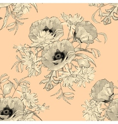 Hand Drawn Flowers Seamless Pattern vector