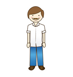 happy man human icon vector image