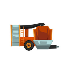 harvester machine agricultural machinery vector image