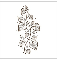 Heart leaves border vector