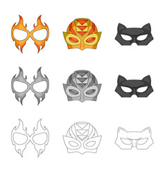 Hero and mask icon vector