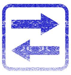 Horizontal flip arrows framed textured icon vector