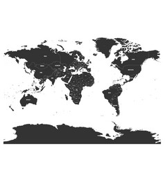 horizontally flipped political map of world vector image