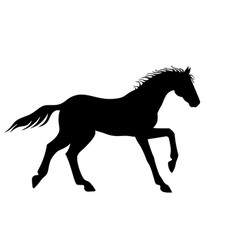 horse galloping - silhouette for logo vector image