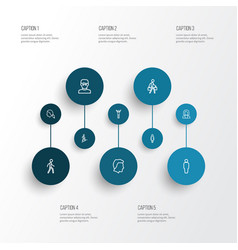 human outline icons set collection of smart man vector image