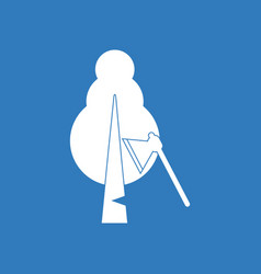 Icon chopping wood vector