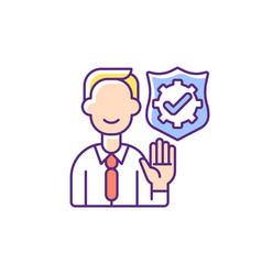 Integrity rgb color icon vector