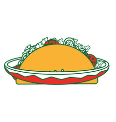 isolated taco design vector image