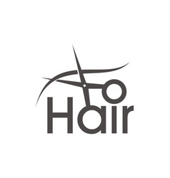 Letter hair with scissor and comb vector