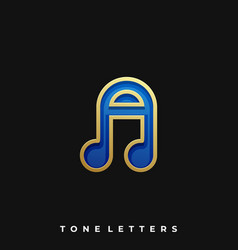 Letter tones template vector