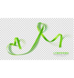 lymphoma awareness month lime green color ribbon vector image