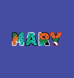 Mary concept word art vector
