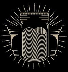 Mason Jar vector
