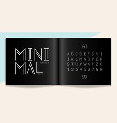 minimal font and alphabet set lettering design vector image