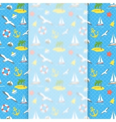 Nautical Icons background with blurred banner vector image