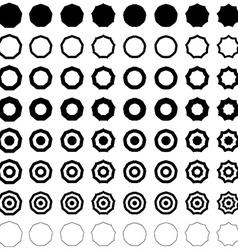 Nonagon shape set vector