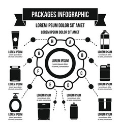 Packages infographic concept simple style vector