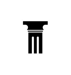pillar icon design template isolated vector image