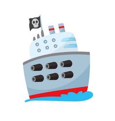 Pirate buccaneer filibuster corsair sea dog ship vector