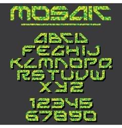 Pixel Mosaic Font vector