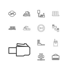 Port icons vector