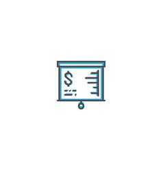 presentation icon line design business icon vector image