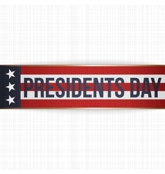 Presidents Day big realistic Banner with Text vector image