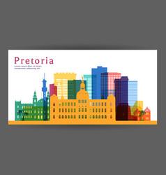 pretoria colorful architecture vector image
