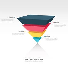 pyramid upside down infographic template vector image