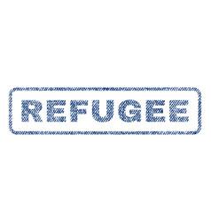 refugee textile stamp vector image