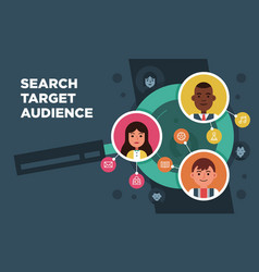 research people searching target audience vector image