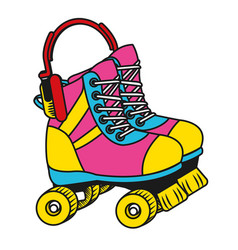 Roller skates cartoon vector